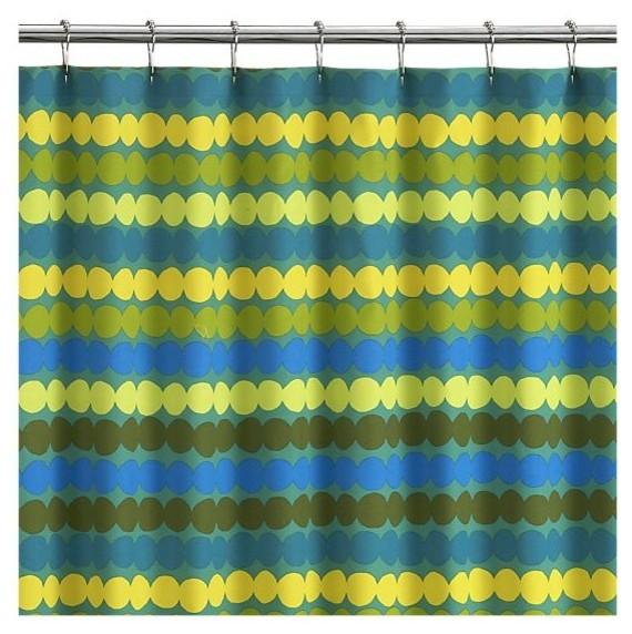 Marimekko Rasymatto Teal Shower Curtain modern-shower-curtains