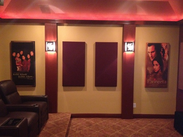 Bollywood/Hollywood Media Room traditional-home-theater