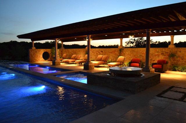 New Pools and Spas contemporary-pool