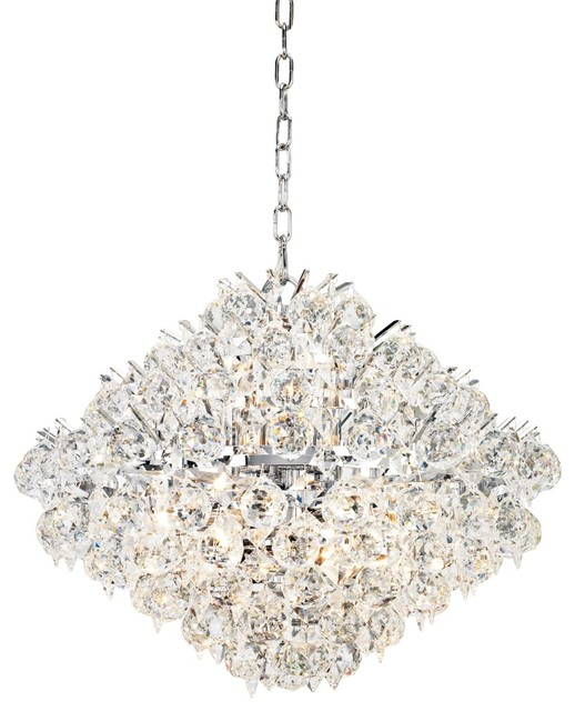 "Contemporary Vienna Full Spectrum Essa 20"" Wide Chrome - Crystal Pendant contemporary-chandeliers"