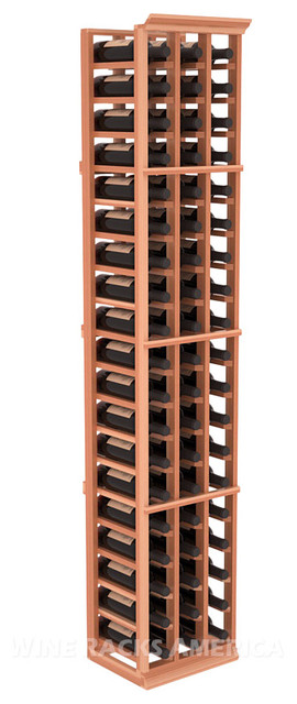 3 Column Standard Cellar Rack in Redwood traditional-wine-racks