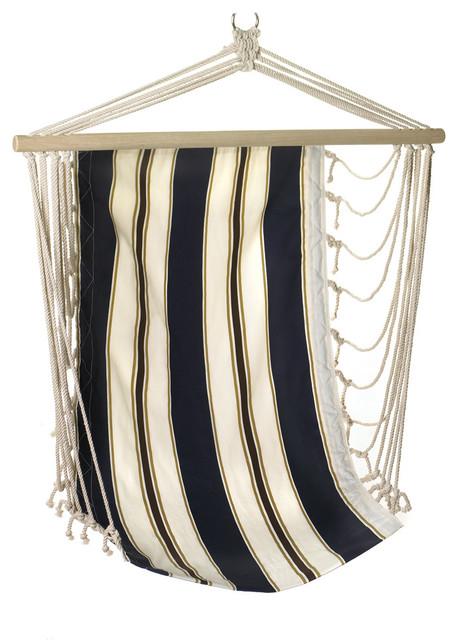 Navy Striped Hanging Chair traditional-hammocks