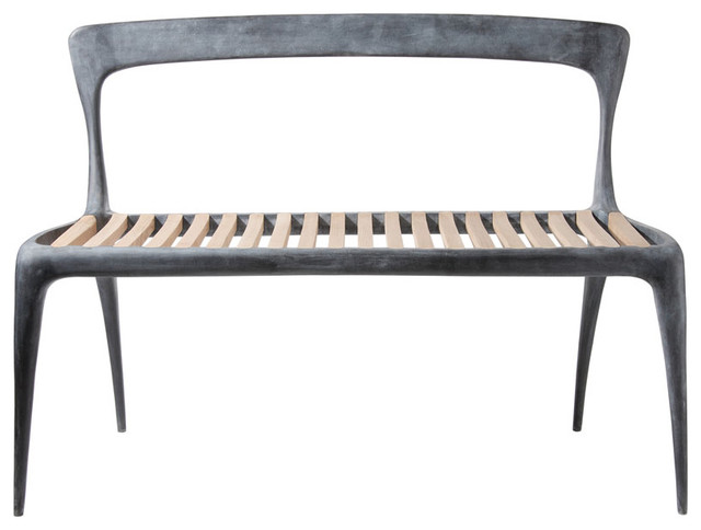 Cast Aluminum Bench by John Reeves - contemporary - patio