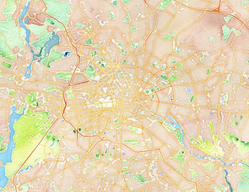 Watercolor Berlin by Stamen Design contemporary-artwork