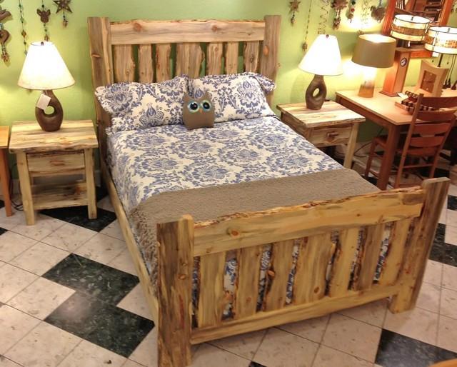 Colorado Blue Pine Rustic Bed Rustic Beds Denver By Boulder Furniture Arts