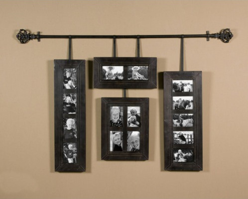 Uttermost Black Hanging Photo Frames in Hand Forged Metal modern frames
