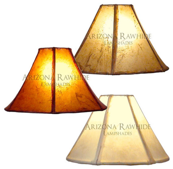 Rawhide Lamp Shade Small Med Table Lamps Size 9 H X 15 W