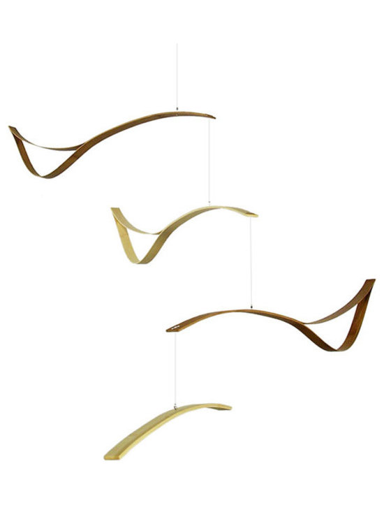 Schmitt Design - Rift Mobile - It's a bird. It's a plane! Even better, this abstract mobile is whatever your imagination can dream up. It would be great for a high-ceilinged stairway or modern nursery.