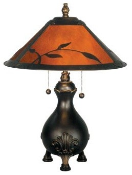 Dale Tiffany Mica Leafs Table Lamp modern-table-lamps