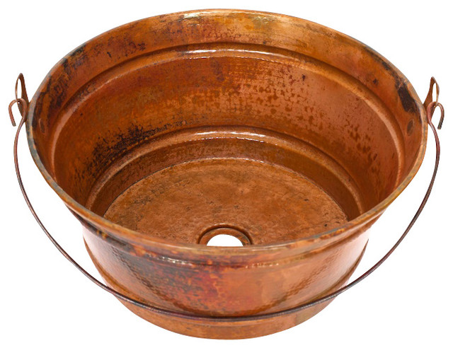 Bathroom Copper Sink Round Vessel Bathroom Copper Sink Rustic Bathroom