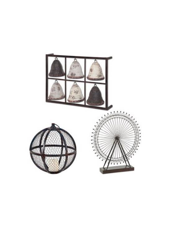 Objet d'art - Decorative Accessories - Organic sculptures can help break up a space that is too geometric. These three accessories can add depth to a space when placed on a fireplace hearth or displayed on a side table. Recurring shapes adds balance and an artistic vibe to a room.
