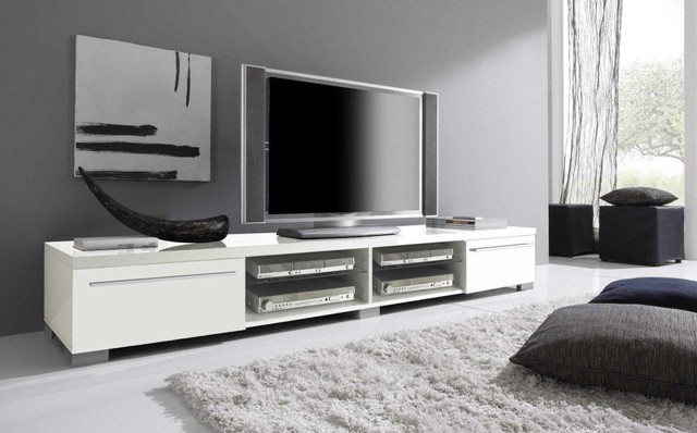 modern tv stand mare 82 white modern tv. Black Bedroom Furniture Sets. Home Design Ideas
