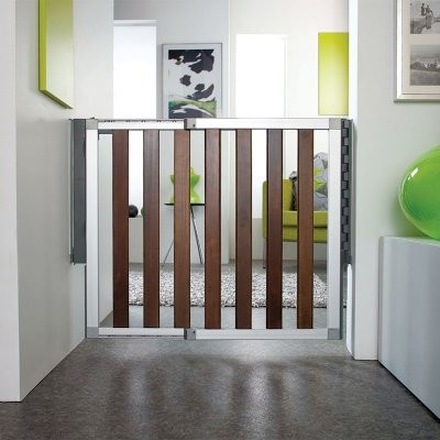 Munchkin Loft Dark Wood Gate modern-nursery-decor