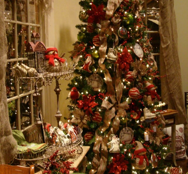 homespun traditional christmas tree eclectic atlanta by iron accents. Black Bedroom Furniture Sets. Home Design Ideas
