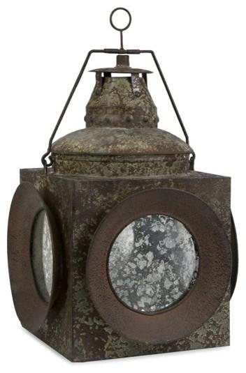 """Vintage Naval Lantern- 20""""h rustic-candleholders"""