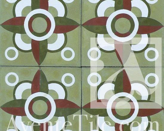 "Geometric Geo 13 Cement Tile 8"" x 8"" -"