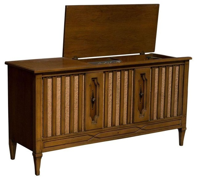 Vintage Mid Century Stereo Cabinet - Modern - Storage Cabinets - by Chairish
