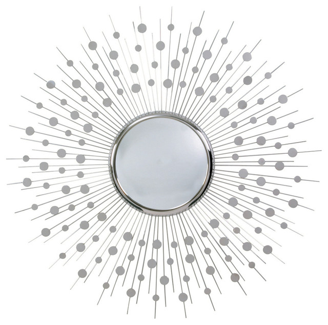 Orion Polished Nickel Large Convex Mirror transitional-mirrors