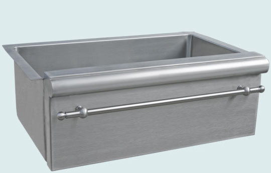 Metal Apron Sink : Stainless Sink Handcrafted Metal - Farmhouse - Kitchen Sinks ...
