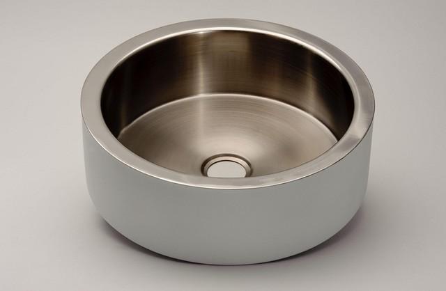 Corner Sink Stainless Steel : Small Corner Stainless Steel Bathroom Sink By MaestroBath - Modern ...