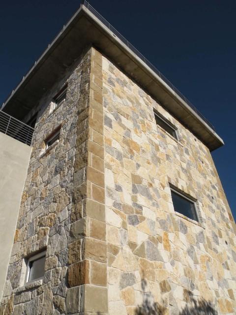 Exterior TX limestone and Sandstone cladding contemporary-exterior