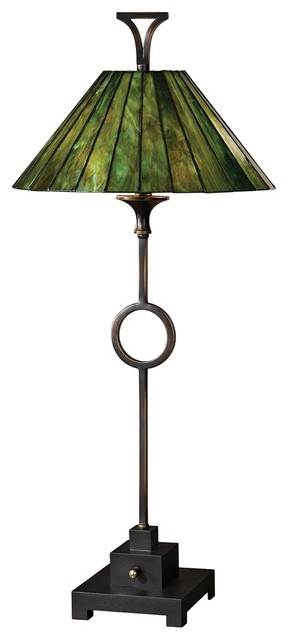 Iron Uttermost Viridiana 2 Light Tiffany Style Shade Table Lamp traditional-table-lamps