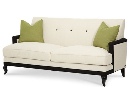 AICO Furniture - After Eight Contemporary 3 Seat Sofa - 19815-CRGRN-88 - After Eight Collection Sofa