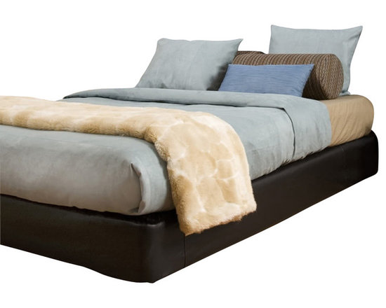 Howard Elliott - Black Faux Leather King Platform Bedroom Set (Kit and Cover) - Convert a basic boxspring into a platform bed using HECs boxspring slip-cover & frame support. Simply fasten the frame support to your current boxspring then slip on the cover (included). It really is that easy! Boxspring mattress sold separately. Includes frame supports, hardware, feet & cover. Fits most standard size boxspring mattresses. Black faux leather cover provides the perfect base for your bedding. Finish the look by adding 10 of the Avanti black pixels #PB2-194.