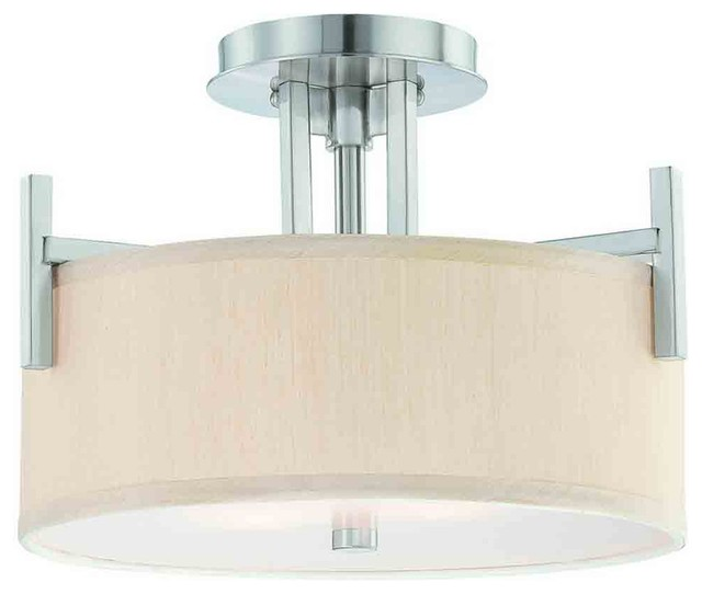 Dolan Designs 2945-09 Tecido Satin Nickel Semi-Flush Mount contemporary-ceiling-lighting