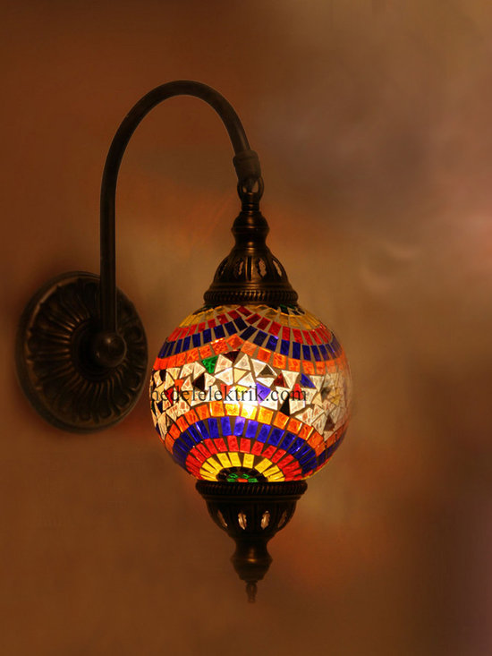 Colorful Turkish Style Mosaic Lighting Wall Sconce - Code: HD-20003_03