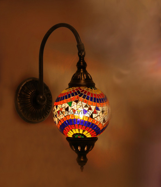 Colorful Turkish Style Mosaic Lighting Wall Sconce traditional-wall-sconces