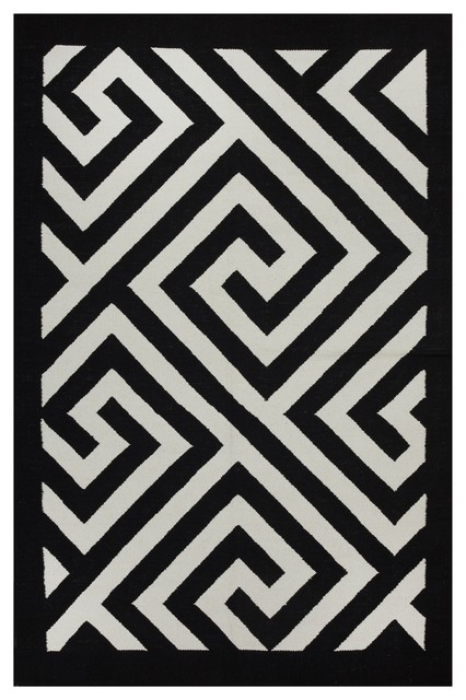 Broadway - Black & White (2' x 3') contemporary-rugs