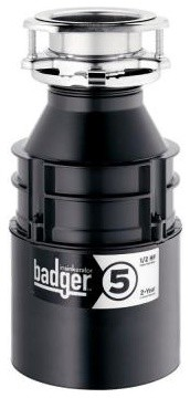 InSinkErator Garbage Disposal. Badger 5 1/2 HP Continuous Feed Garbage Disposal contemporary-kitchen-trash-cans