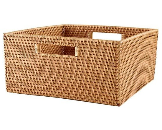 Rattan Large Changer Basket, Honey -