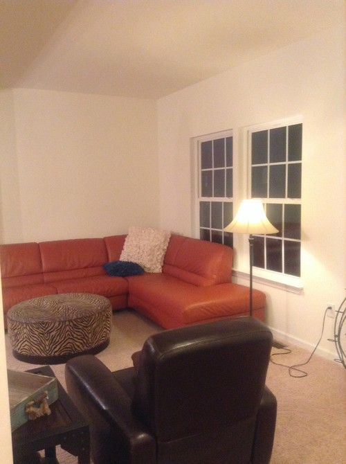 What Wall Paint Color To Go With Orange Sofa