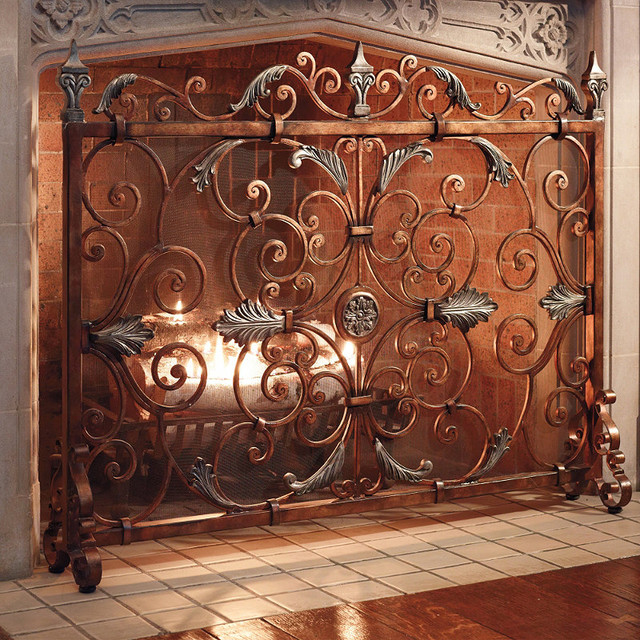 Astoria Fireplace Screen traditional-screens-and-room-dividers