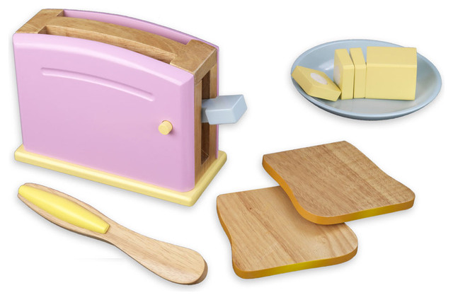 Gavino Pastel Toaster Set by Kidkraft modern-baby-toys