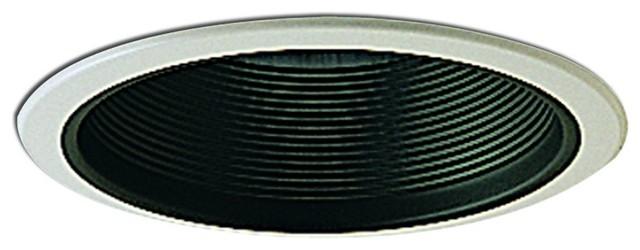"""6"""" Black Adjustable Stepped Baffle Trim modern-recessed-lighting"""