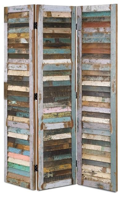Currey & Company Medina Folding Screen CC-3174 eclectic-screens-and-room-dividers