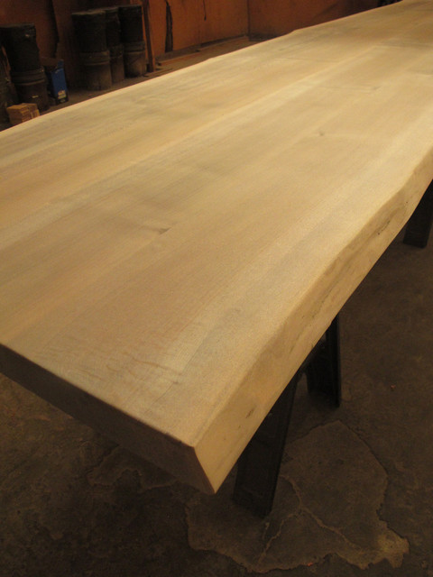 Live edge reclaimed wood countertops modern kitchen for Reclaimed fir flooring seattle