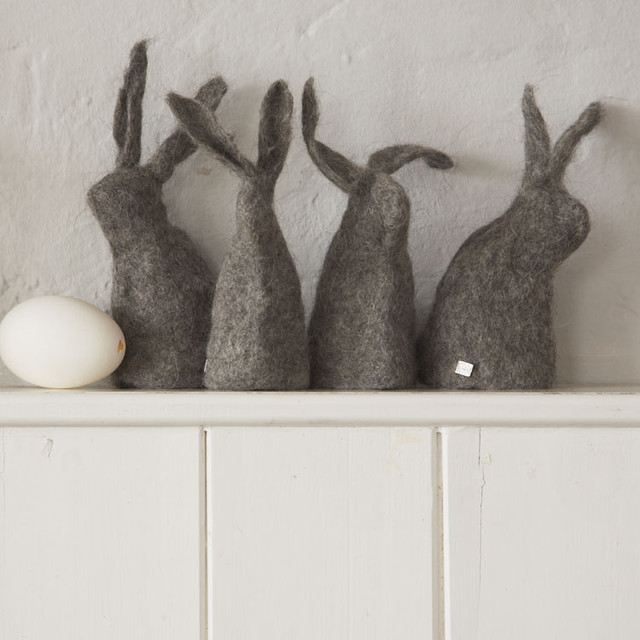 Hut Up Felt Rabbits contemporary-home-decor