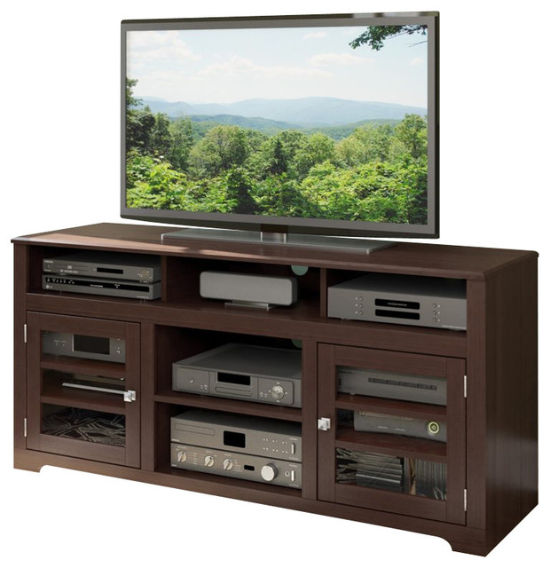 """Sonax West Lake 60"""" Television Fireplace Bench transitional-media-storage"""