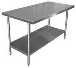 18-Gauge Stainless Steel Commercial Work Table - traditional