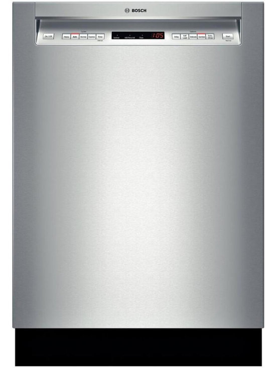 """Bosch 24"""" Recessed Handle 500 Series Dishwasher, Stainless Steel 