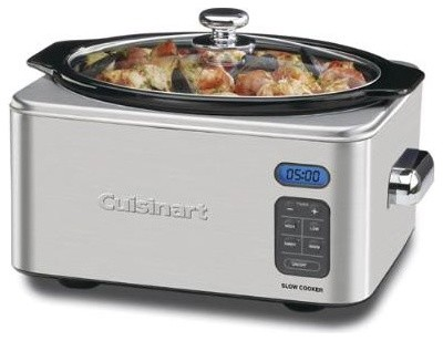 6.5 Qt. Slow Cooker in Brushed Stainless modern-slow-cookers