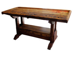 Antique Carpenters Work Bench/Kitchen Island eclectic kitchen islands and kitchen carts