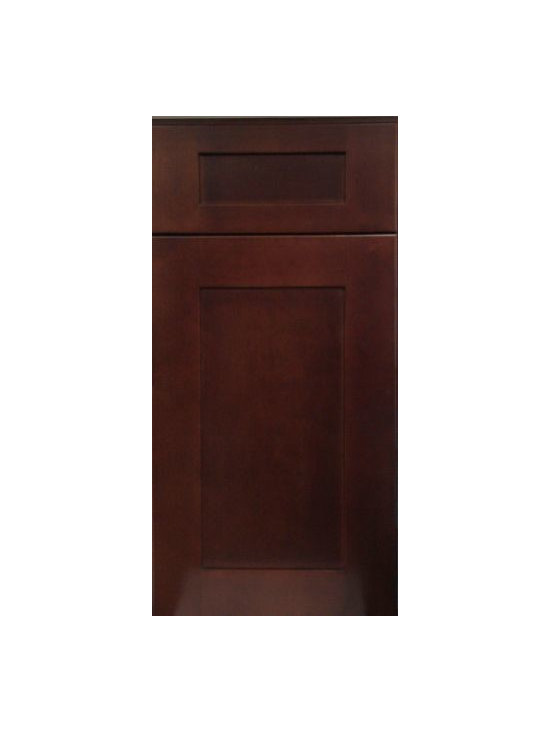 "MOCHA SHAKER / Assembled Kitchen Cabinets - Full Overlay Door Style - 3/4"" Solid Birch Face-Frame"