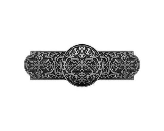 """Inviting Home - Renaissance Pull (brilliant pewter) - Hand-cast Renaissance Pull in brilliant pewter finish; 4""""W x 1-1/2""""H; Product Specification: Made in the USA. Fine-art foundry hand-pours and hand finished hardware knobs and pulls using Old World methods. Lifetime guaranteed against flaws in craftsmanship. Exceptional clarity of details and depth of relief. All knobs and pulls are hand cast from solid fine pewter or solid bronze. The term antique refers to special methods of treating metal so there is contrast between relief and recessed areas. Knobs and Pulls are lacquered to protect the finish. Detailed Description: The Renaissance Pulls are delicate-looking design that has a very bold shape to it. Unlike some of the pulls in the collection this one is not only rectangular but has the circle in the middle that really punches it up. The Renaissance knobs will look amazing in conjunction with the pulls due to the fact that they are round as well."""