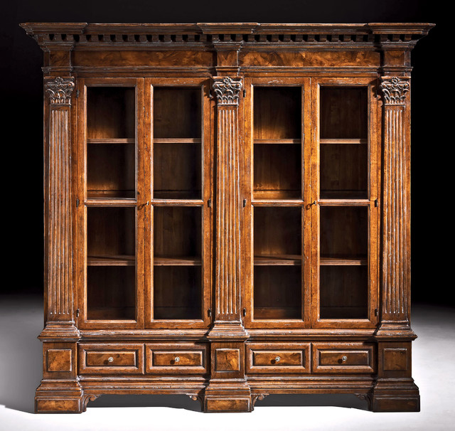Solid Walnut Venetian Bookcase - Rustic - Bookcases - other metro - by David Michael Furniture