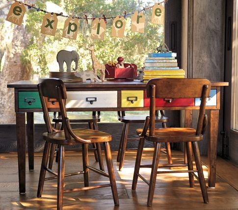 Brunswick Play Table & Hudson Vintage Chairs traditional kids tables